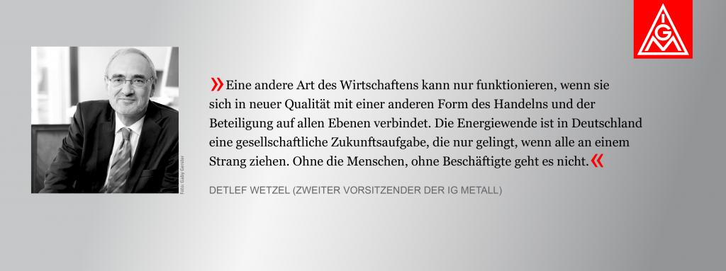 Bild von Detlef Wetzel mit Zitat