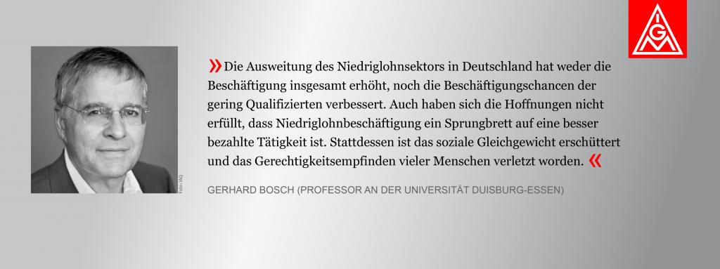 Bild von Gerhard Bosch mit Zitat