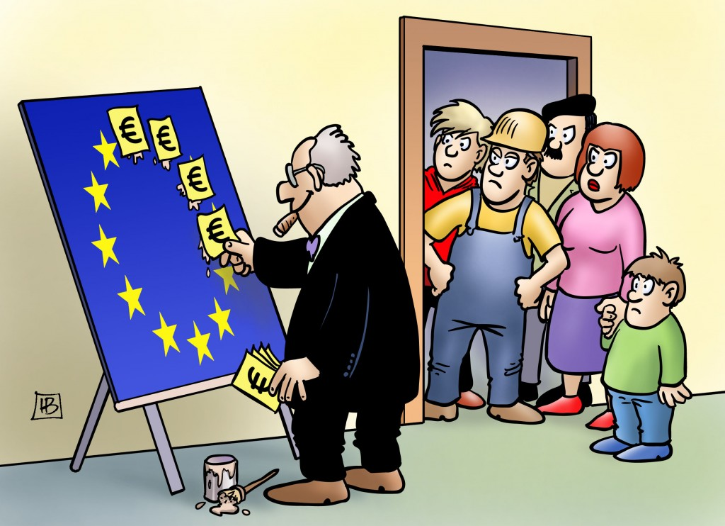 Kurswechsel für Europa. Karikatur: Harm Bengen